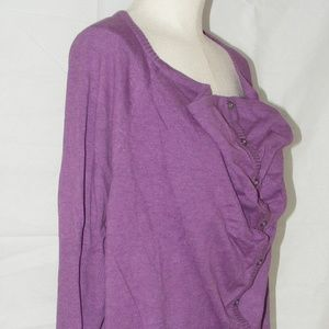 Eileen Fisher, Size 1x Purple Cowl Neck Cardigan